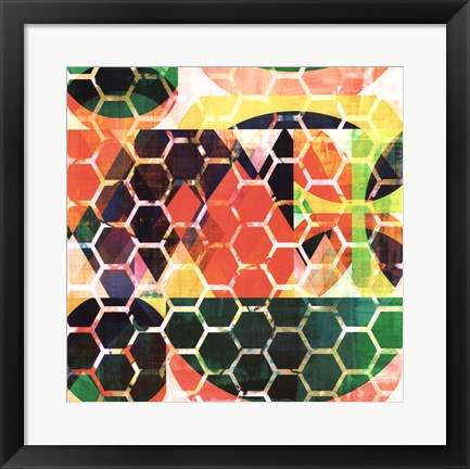 Framed Honey Comb II Print