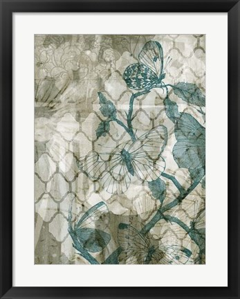 Framed Arabesque Butterflies VI Print