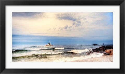 Framed Heading to Sea Print