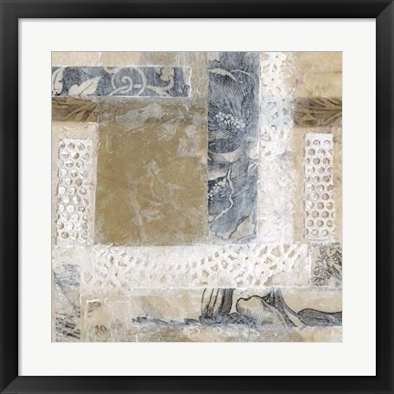 Framed Lace Collage II Print