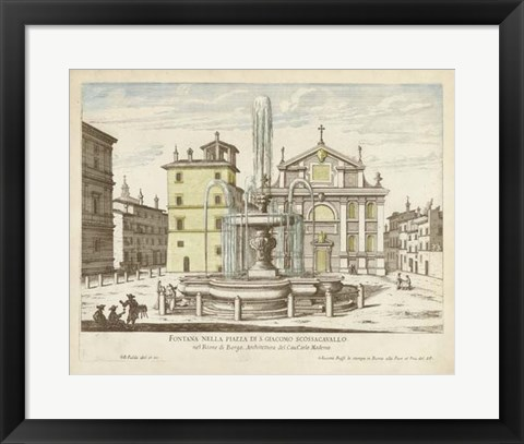 Framed Fountains of Rome I Print
