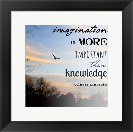Framed Imagination is More Important Than Knowledge - Albert Einstein Print