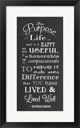 Framed Purpose Print