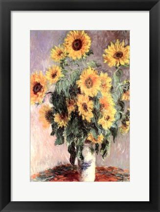 Framed Sunflowers, c.1881 Print