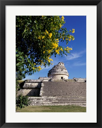 Framed Low angle view of El Caracol Observatory Print
