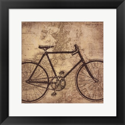 Framed Bicycle Travel Print