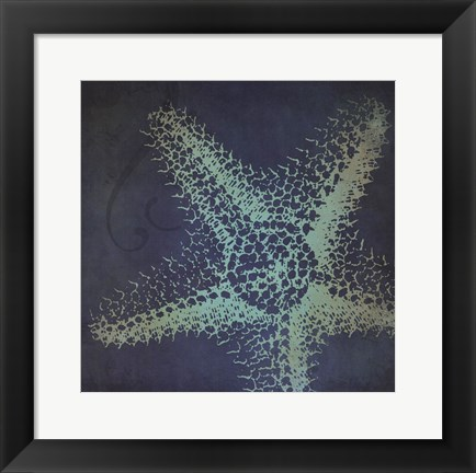 Framed Starfish Silhouette Print