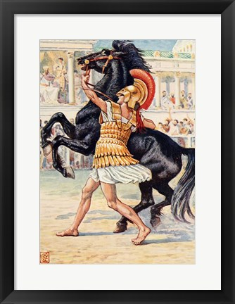 Framed Alexander the Great in the Olympic Games Print