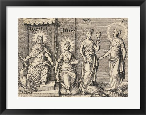 Framed Greek Gods Jupiter Print