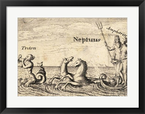 Framed Greek Gods Neptune Print