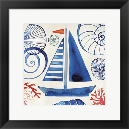 Framed Come Sail Away Print
