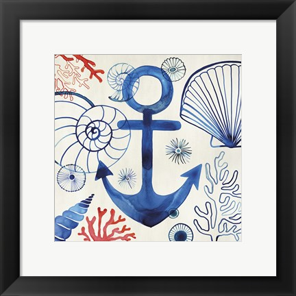 Framed Anchor in Bermuda Print