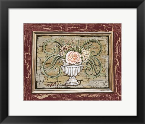 Framed Antique White Vase III Print