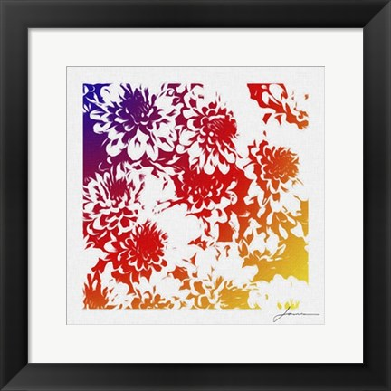 Framed Floral Brights III Print