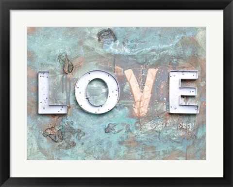 Framed Love Patina II Print