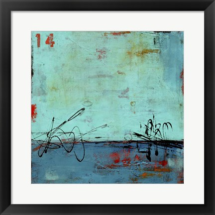 Framed Blue Bay Marina II Print