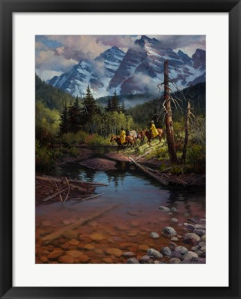 Framed Ridin' the High Country Print