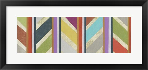 Framed Old Chevron I Print
