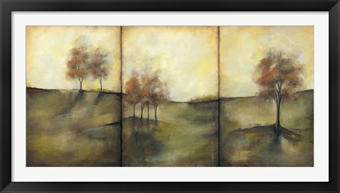Framed Oversize Autumnal Meadow I Print