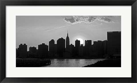 Framed Panorama of NYC I Print