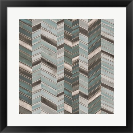 Framed Stacked Chevron II Print