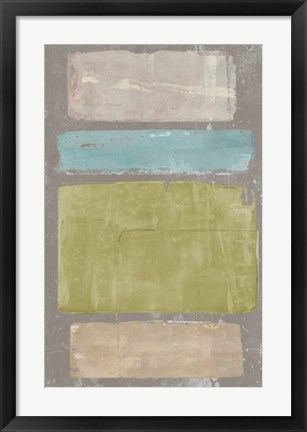 Framed Panelled Colors II Print
