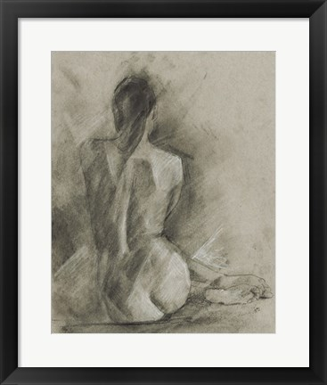 Framed Charcoal Figure Study I Print