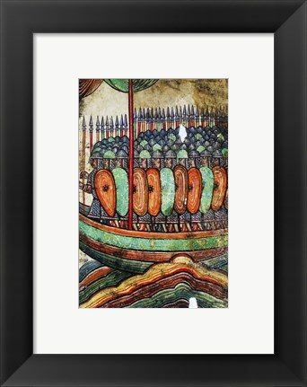 Framed Viking Kite Print