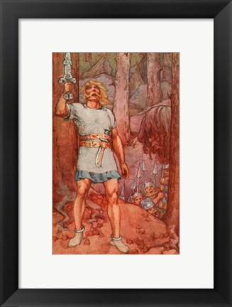 Framed Beowulf, A Book of Myths Print