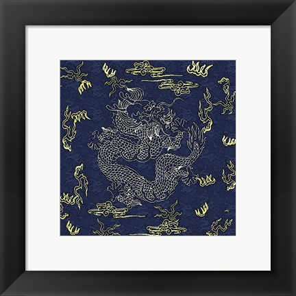 Framed Dragon Flag Print