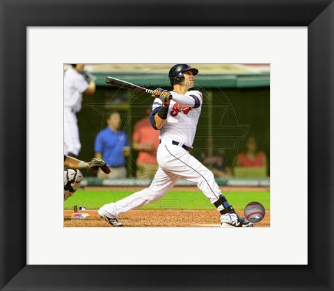 Framed Nick Swisher 2014 Batting Action Print