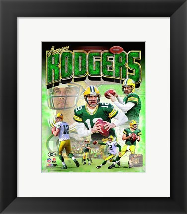 Framed Aaron Rodgers 2014 Portrait Plus Print