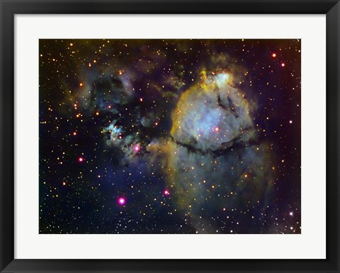 Framed NGC 896 (part of the Heart nebula) in Cassiopeia Print