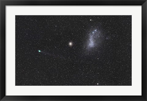 Framed Comet Lemmon next to the Small Magellanic Cloud Print
