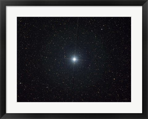 Framed bright star Altair in the constellation Aquila Print