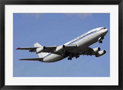 Framed Aeroflot Ilyushin Il-86 airliner taking off from Bulgaria Print