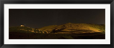 Framed Starry night sky and green shadows, Zanjan Province, Iran Print
