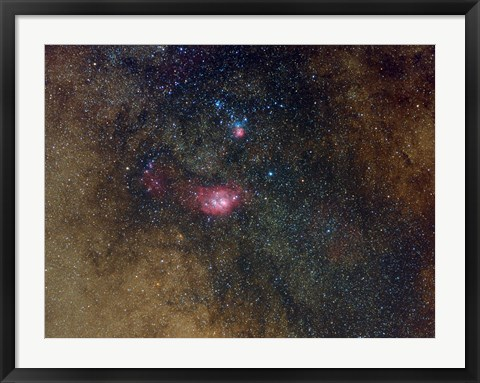 Framed Widefield view of nebulae in Sagittarius Print