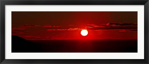 Framed panoramic image where clouds mimic solar prominences Print