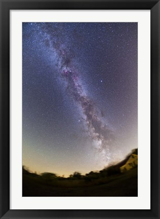 Framed Northern summer/autumn Milky Way from horizon to past the zenith, Alberta, Canada Print