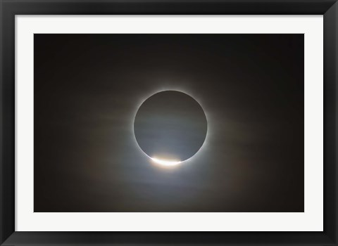 Framed first diamond ring during the total eclipse of the Sun Print