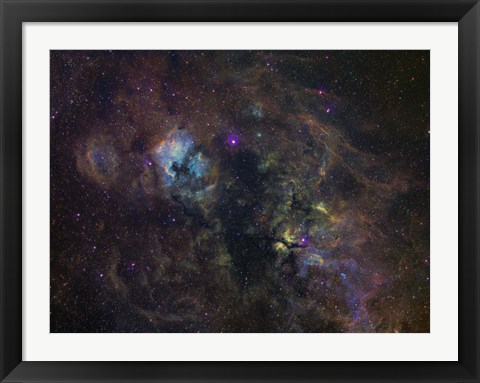 Framed Widefield image of narrowband emission in Cygnus Print
