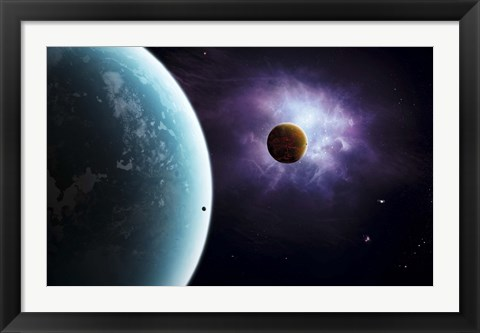 Framed Two planets born from the same star, yet they couldn't be more different Print