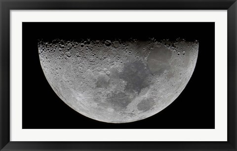 Framed feature known as Lunar-X visible on the moon's surface Print