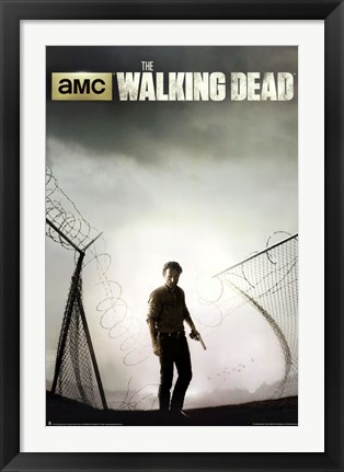 Framed Walking Dead - Season 4 Key Art Print