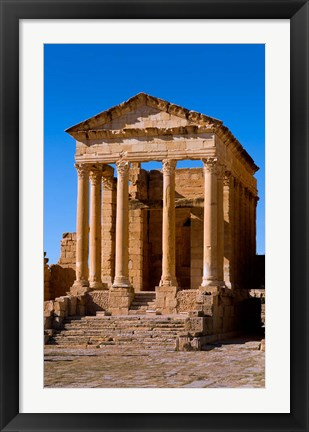 Framed Ancient Architecture, Sufetul, Sbeitla, Tunisia Print