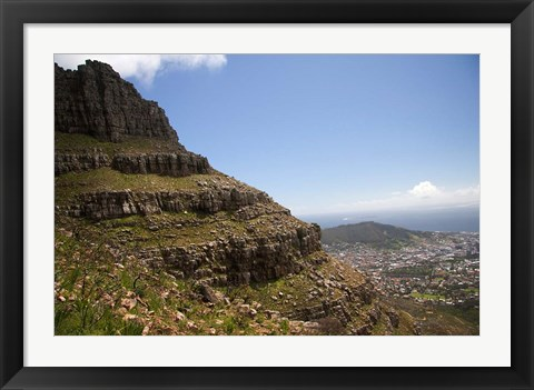 Framed Cape Town, South Africa. Hiking up to Table Mountain. Print
