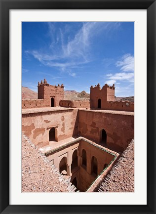 Framed Deserted kasbah on the Road of a Thousand Kasbahs, Tenirhir, Morocco Print