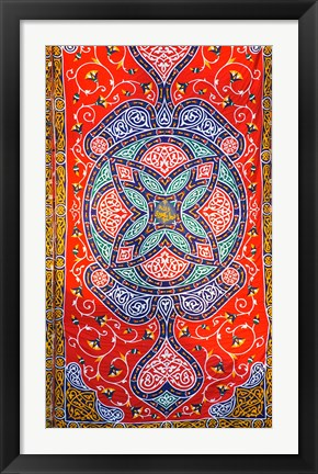 Framed Fabric hanging outside of a Mosque in Cairo, Egypt Print