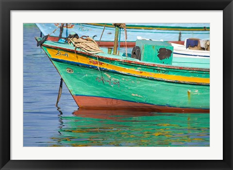 Framed Fishing boats in the Harbor of Alexandria, Egypt Print